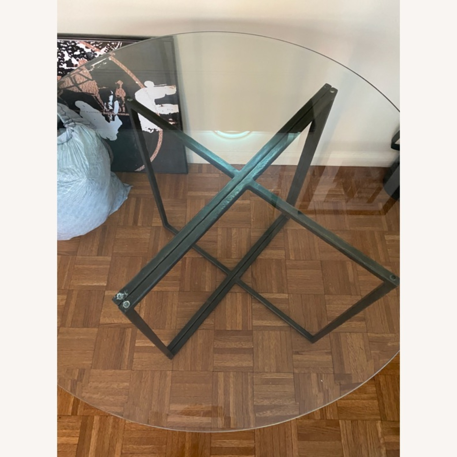 Create & Barrel Glass Dining Table - image-6