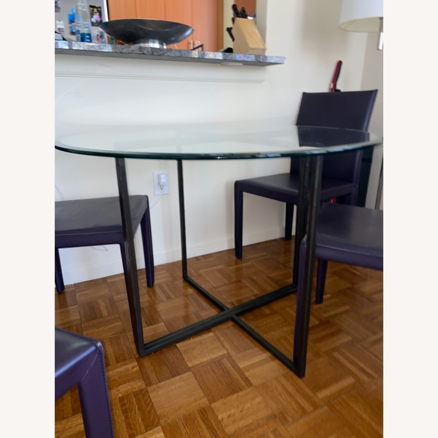 Create & Barrel Glass Dining Table - image-2