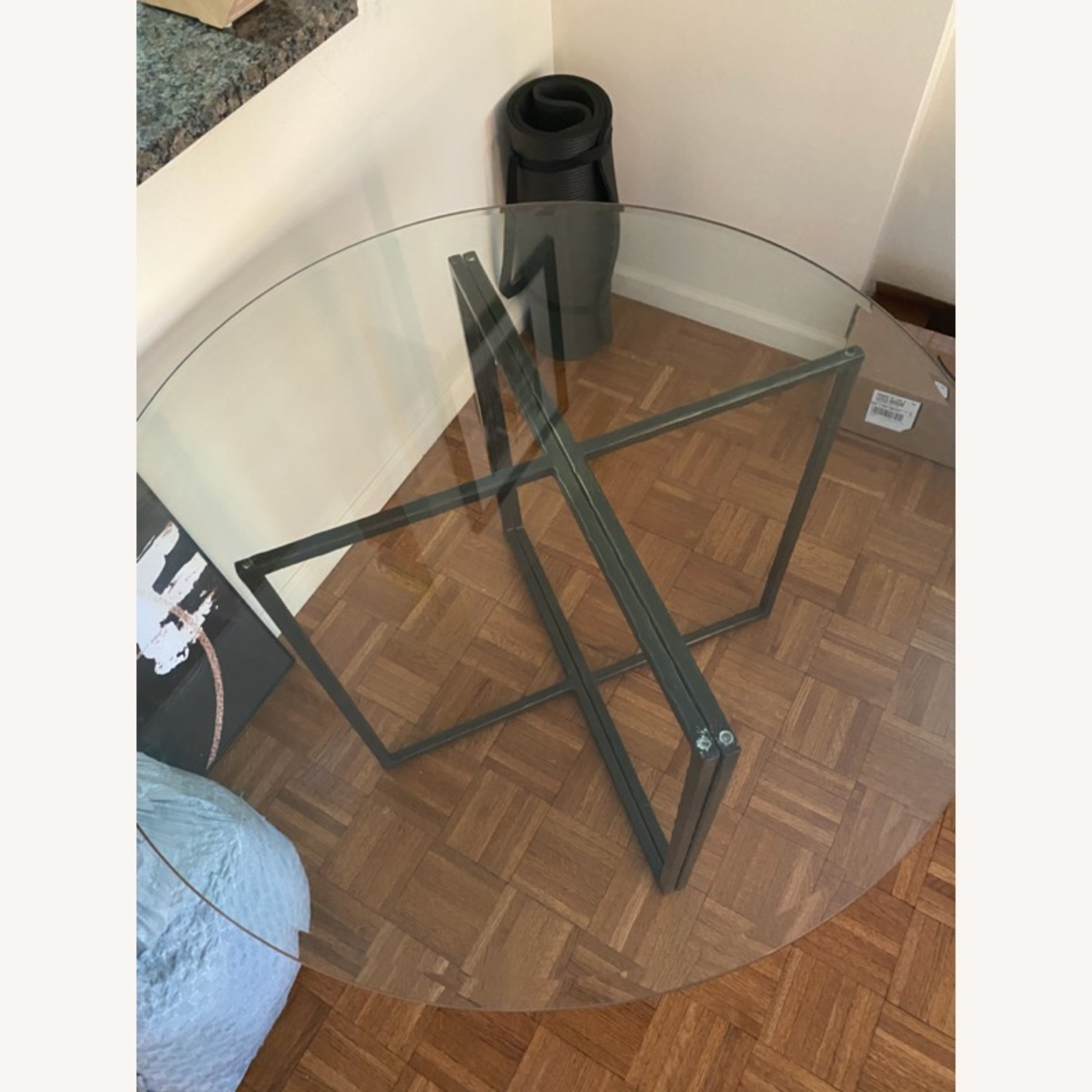 Create & Barrel Glass Dining Table - image-5