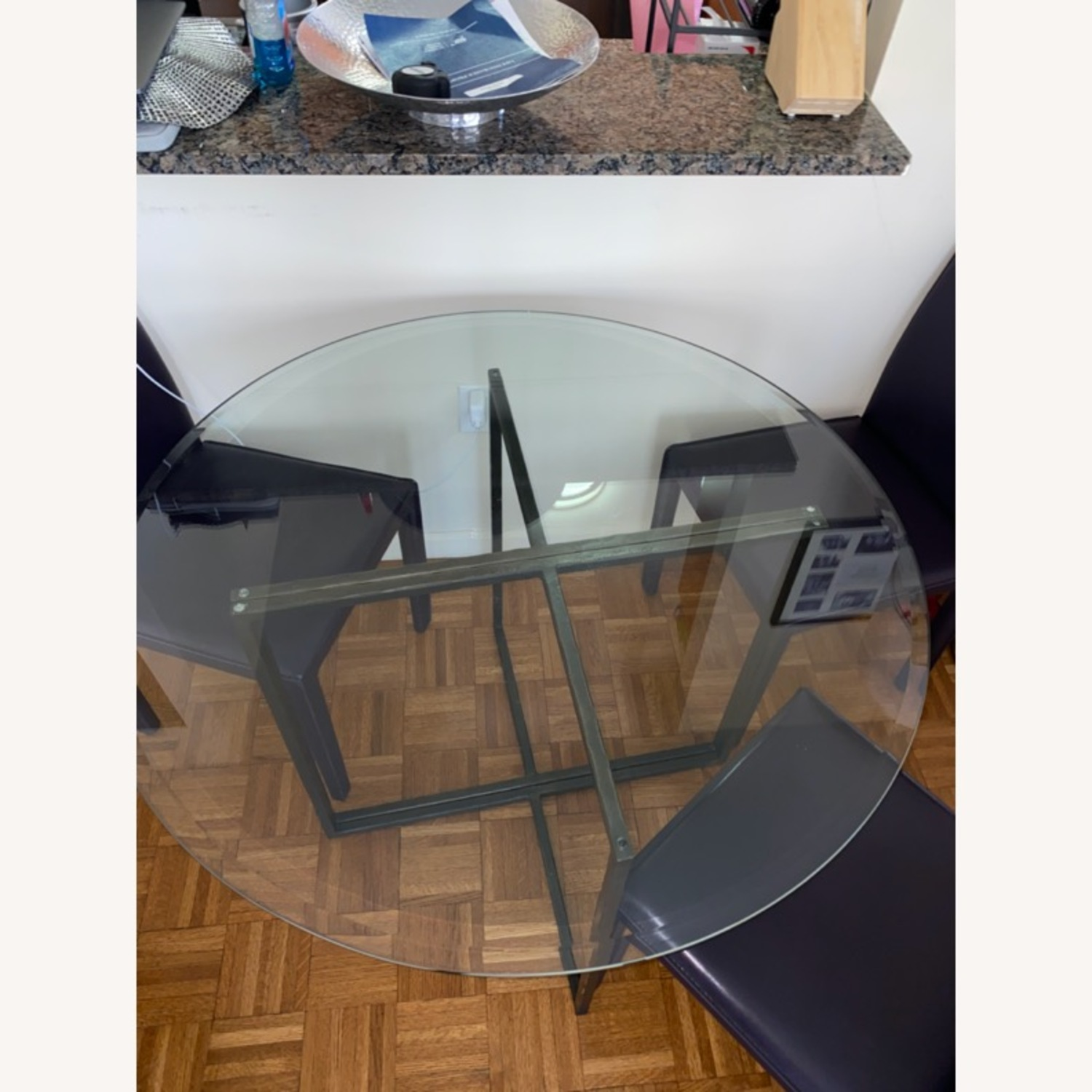 Create & Barrel Glass Dining Table - image-3