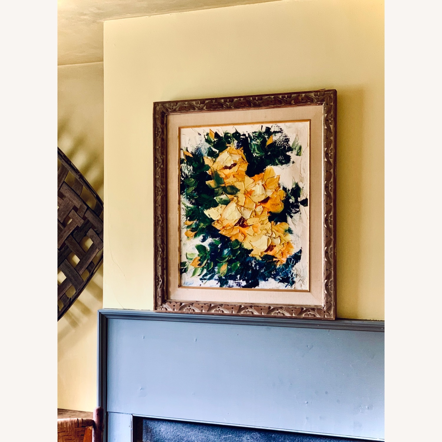 Large Midcentury Abstract Flowers Painting - image-1