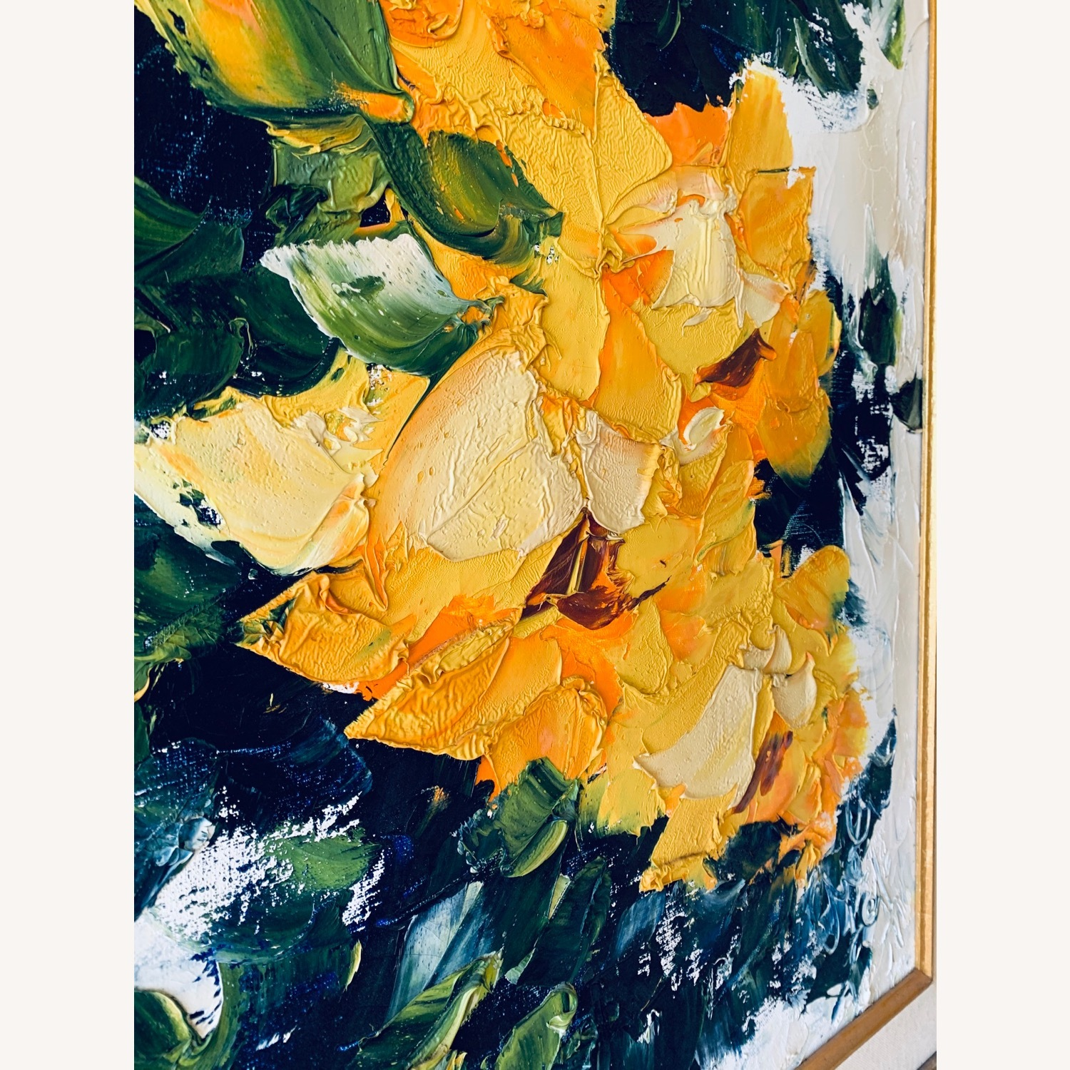Large Midcentury Abstract Flowers Painting - image-2