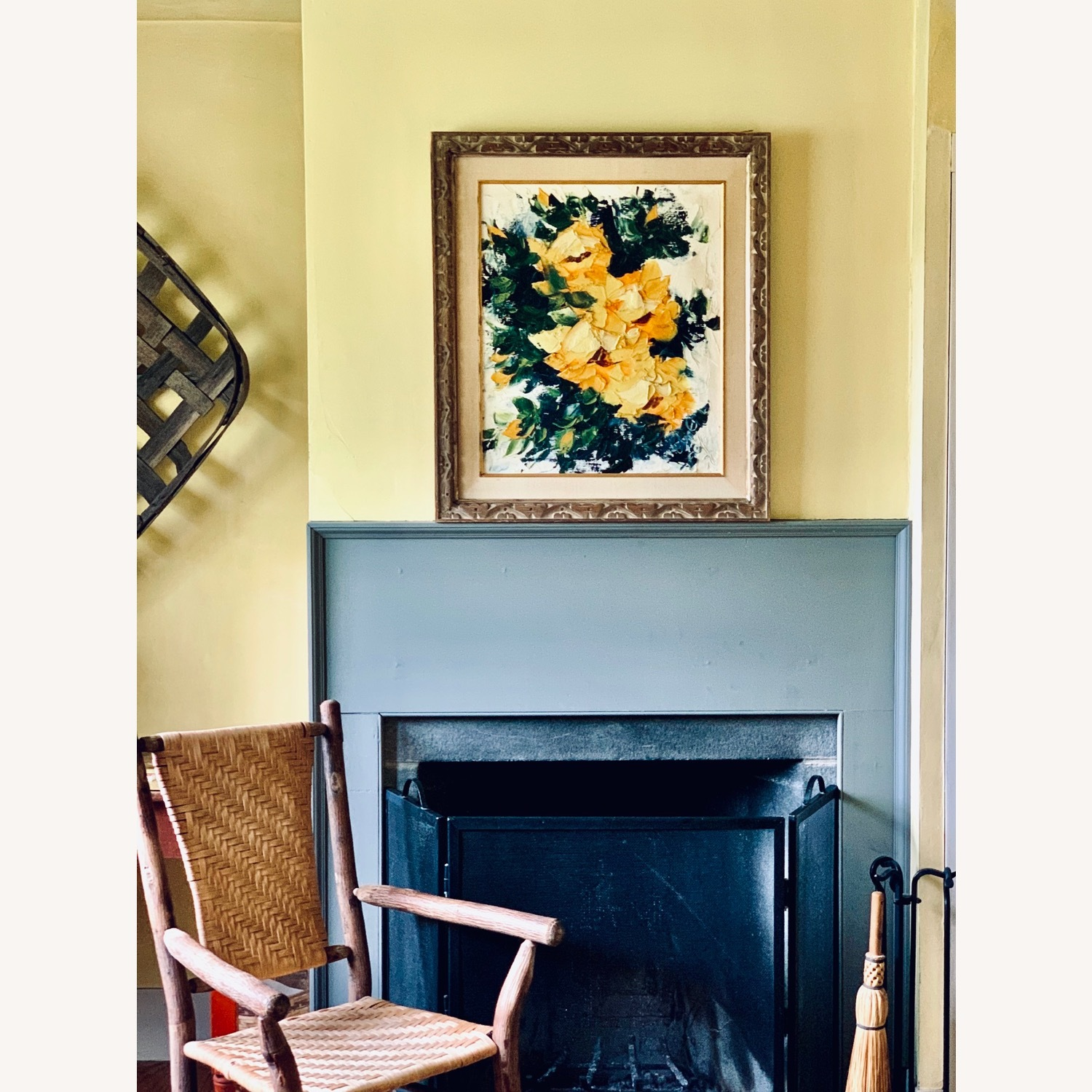 Large Midcentury Abstract Flowers Painting - image-5