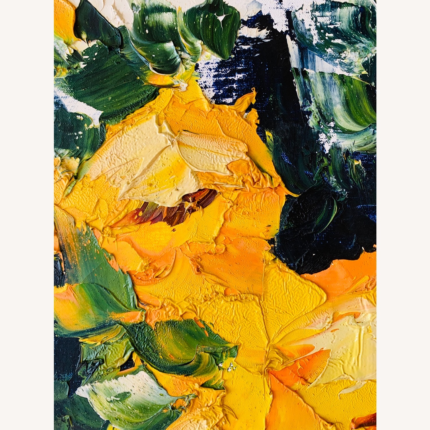 Large Midcentury Abstract Flowers Painting - image-4