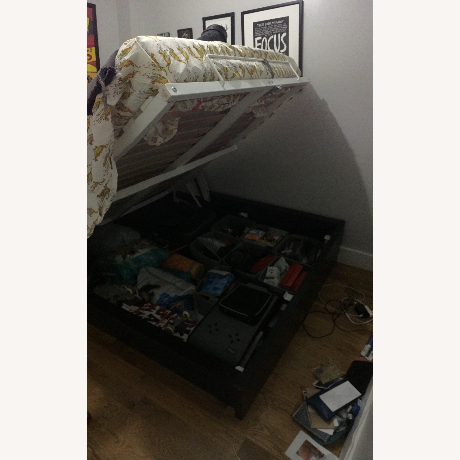 IKEA Malm Full size Storage Bed - image-3