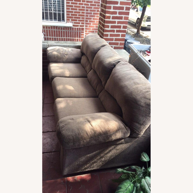 Ashley Furniture Pindall Brown Sofa - image-1