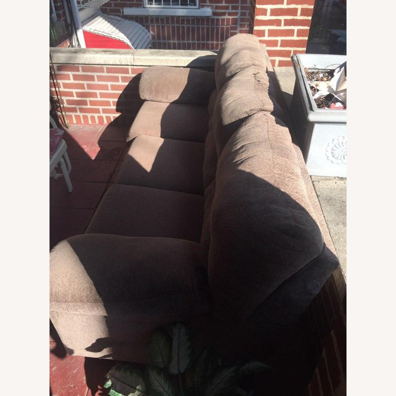 Ashley Furniture Pindall Brown Sofa - image-2