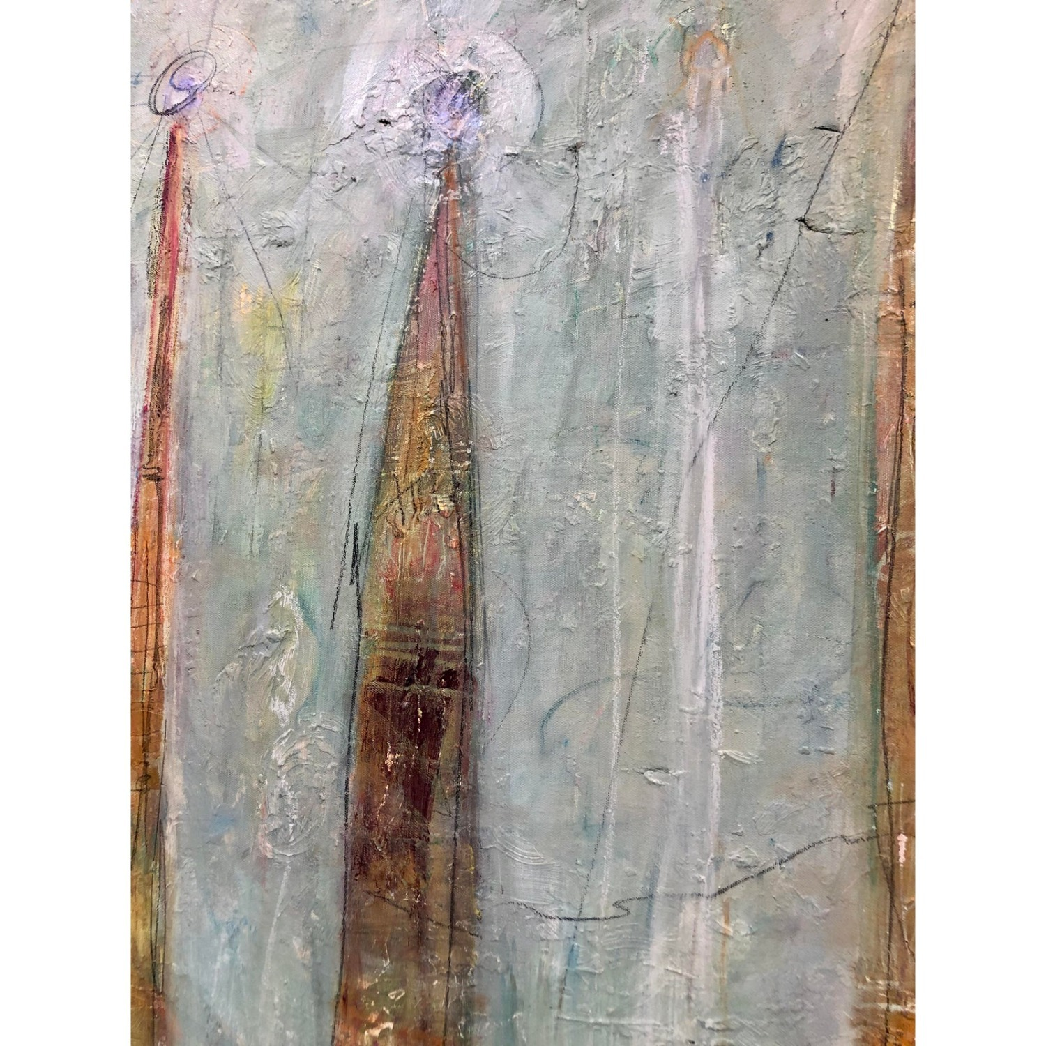 Upward Original Abstract Expressionist Painting - image-4