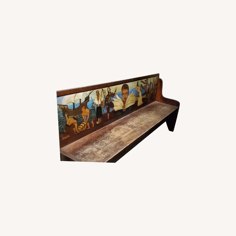 Antique Childrens Bench - image-0