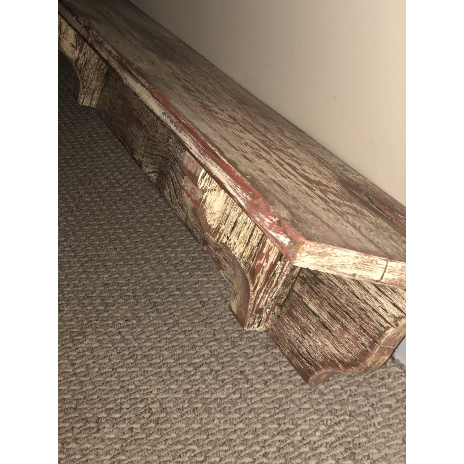 Vintage Rustic Extra Long Shelf or Mantel - image-1