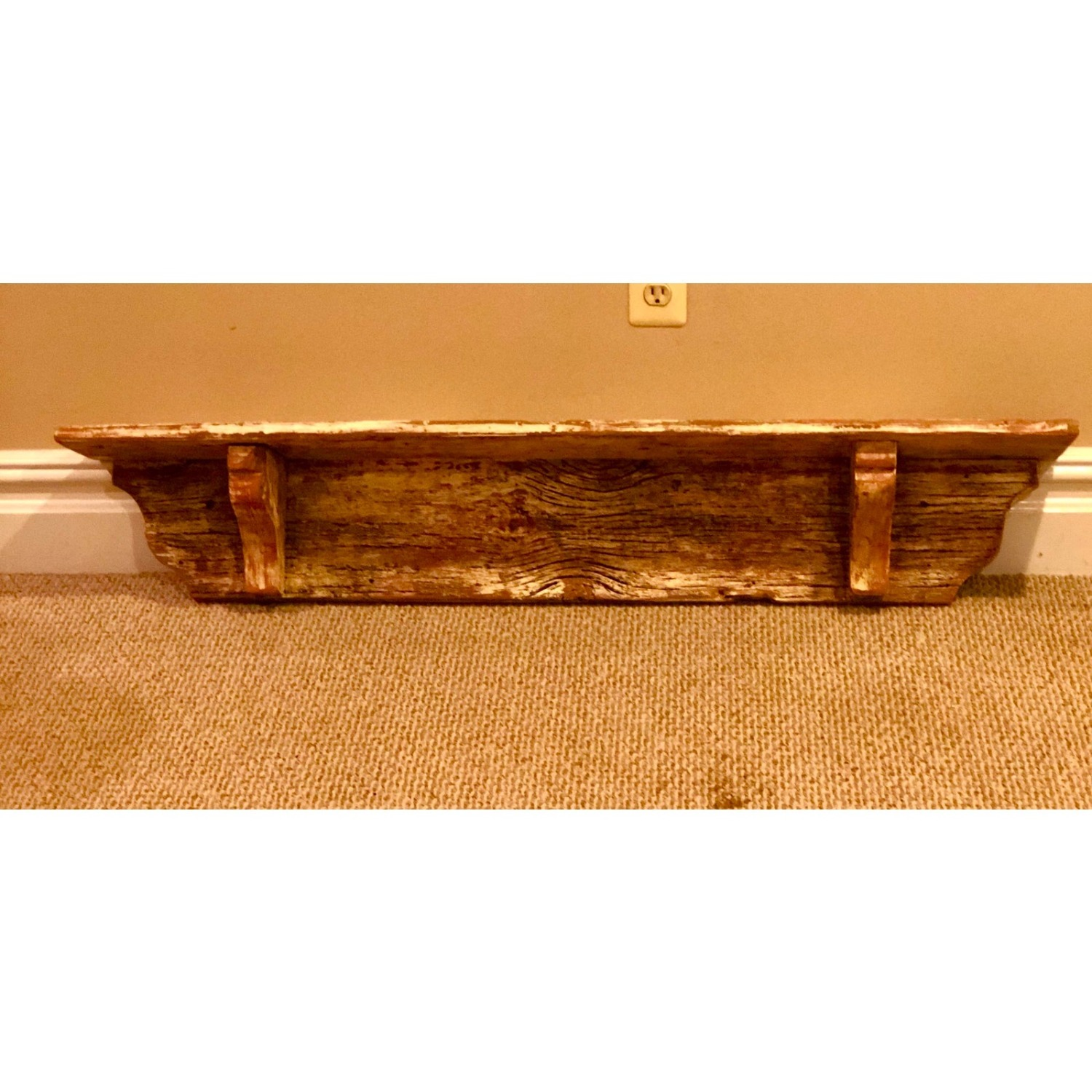 Vintage Rustic Extra Long Shelf or Mantel - image-3
