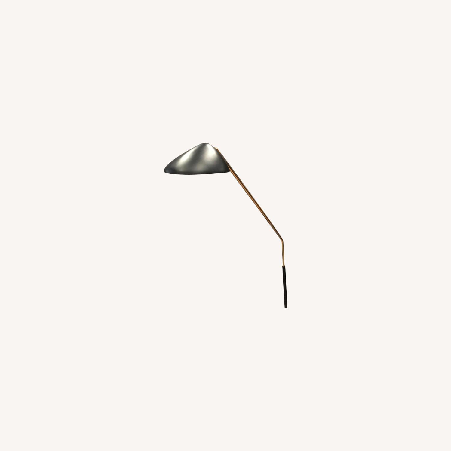 West Elm Black & Gold Floor Lamp - image-0