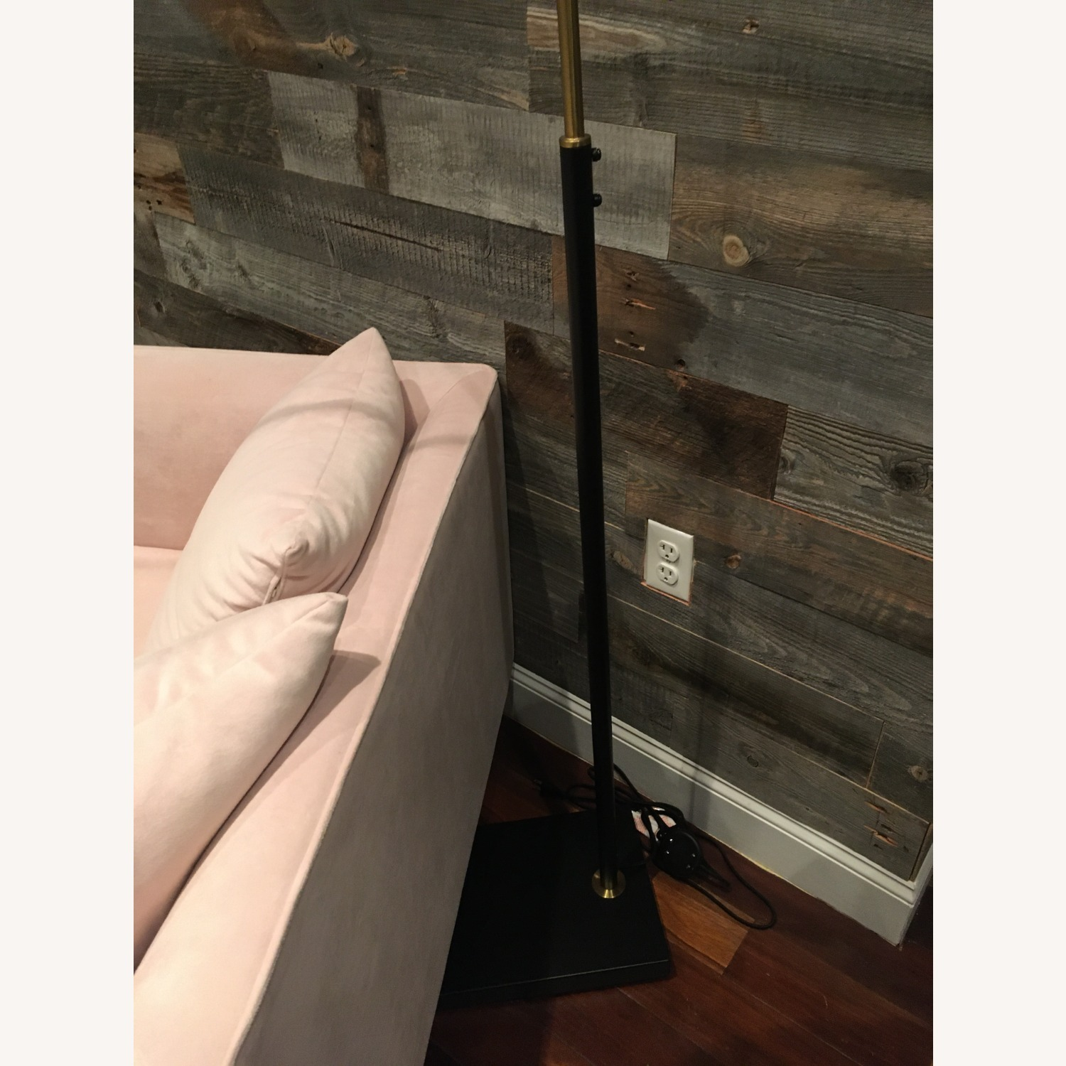 West Elm Black & Gold Floor Lamp - image-3