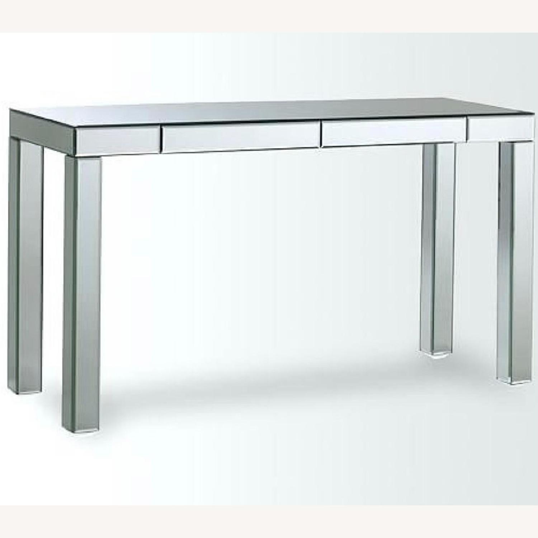West Elm Mirrored Desk/Vanity w/ 2 Drawers - image-0