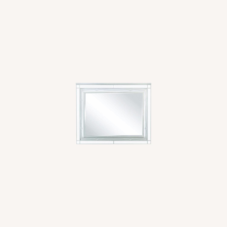 Mirror In Elegant Silver Metallic Finish - image-3