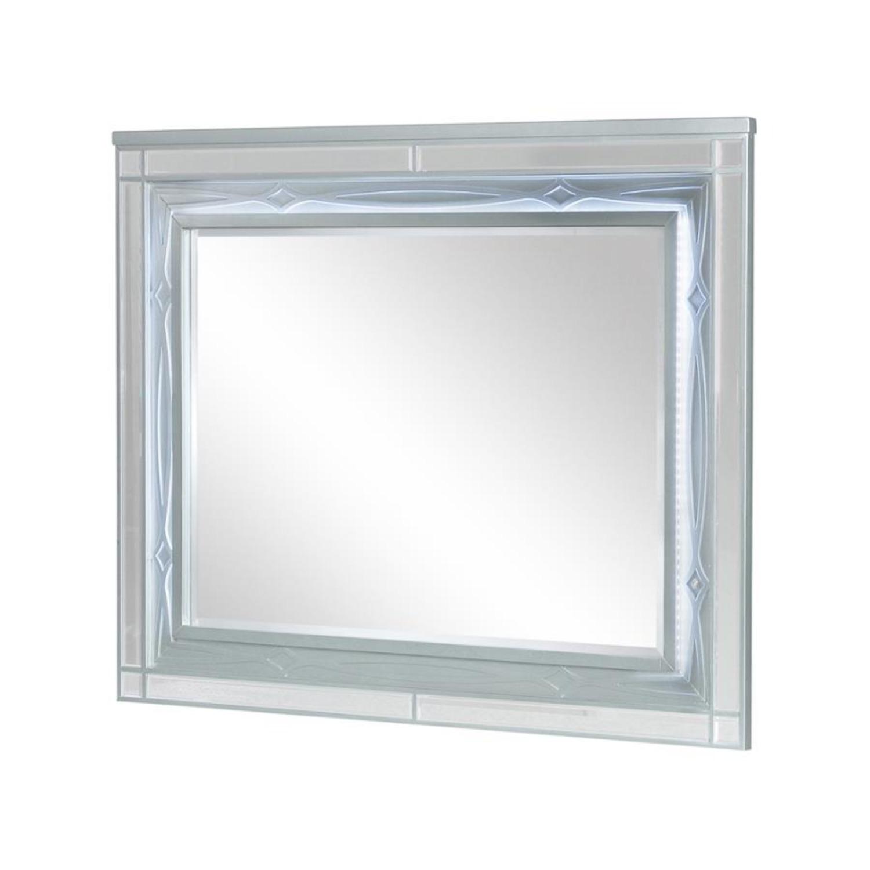 Mirror In Elegant Silver Metallic Finish - image-2