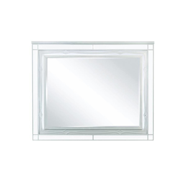 Mirror In Elegant Silver Metallic Finish - image-1