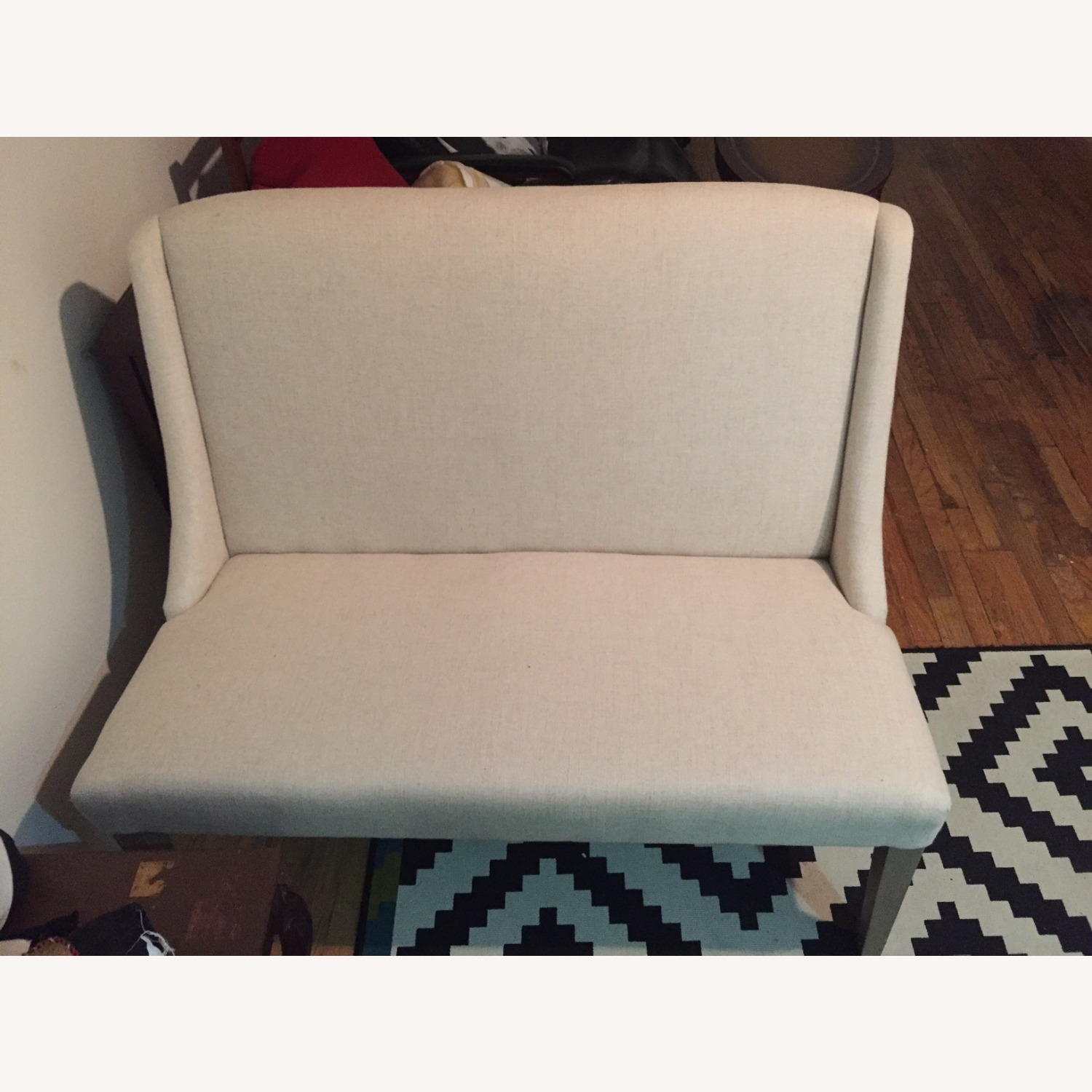 ABC Carpet and Home White Settee Couch - image-4