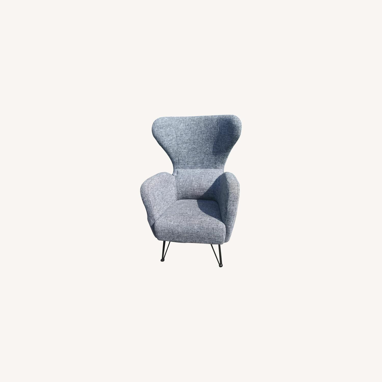 Blue Lounge Armchair - image-0