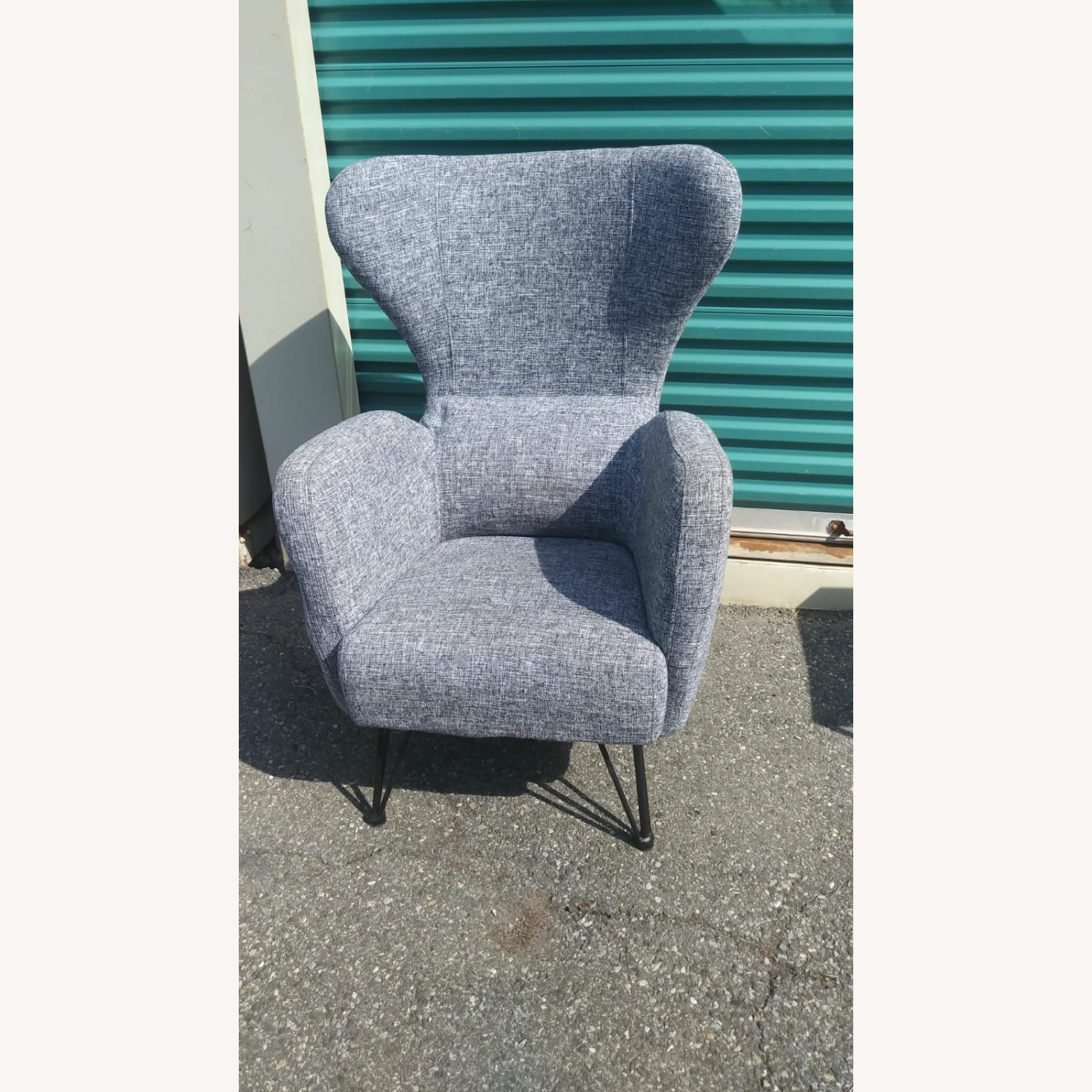 Blue Lounge Armchair - image-3