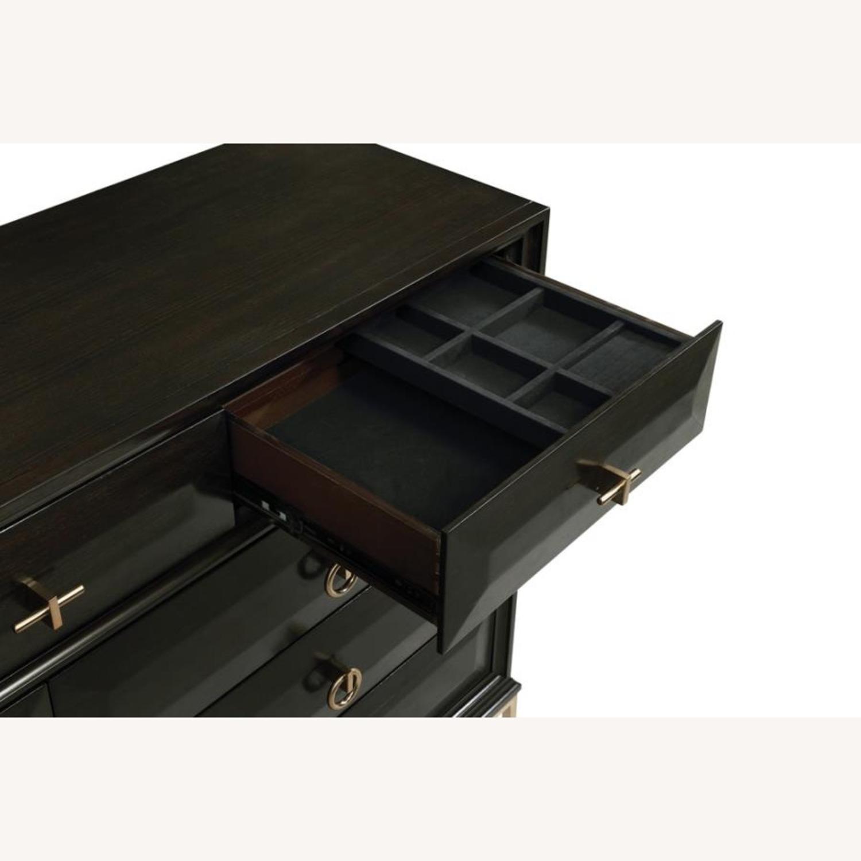 Dresser In Americano Finish W/ 9 Drawers - image-1