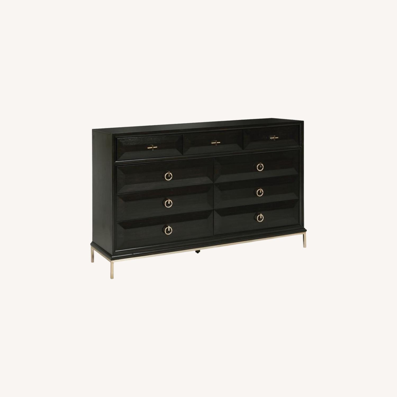 Dresser In Americano Finish W/ 9 Drawers - image-5