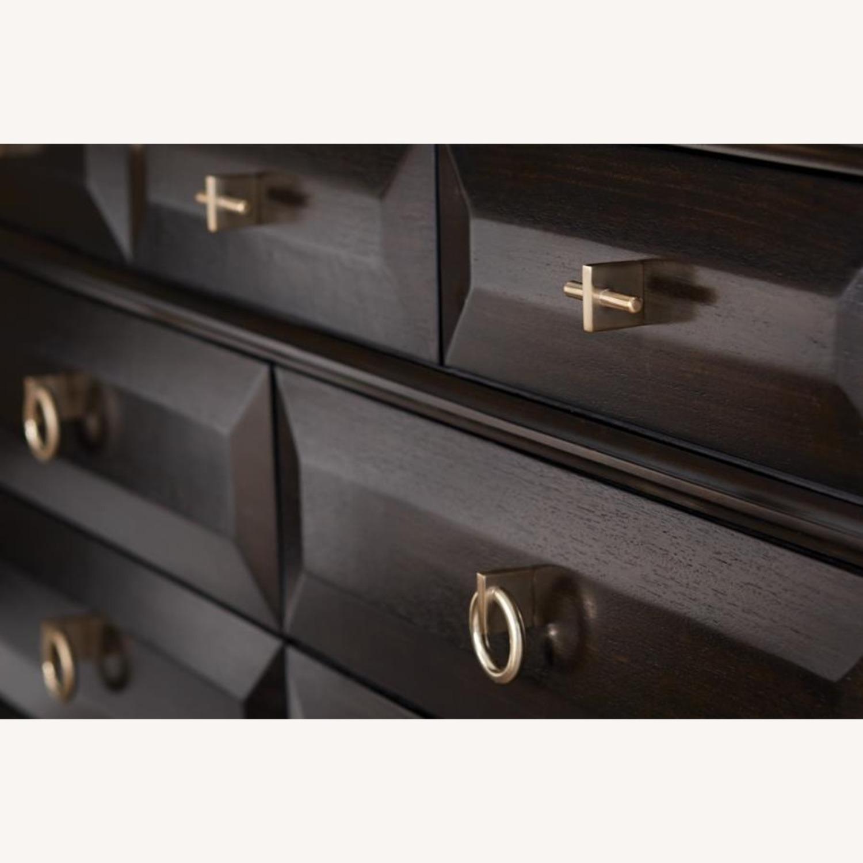 Dresser In Americano Finish W/ 9 Drawers - image-2
