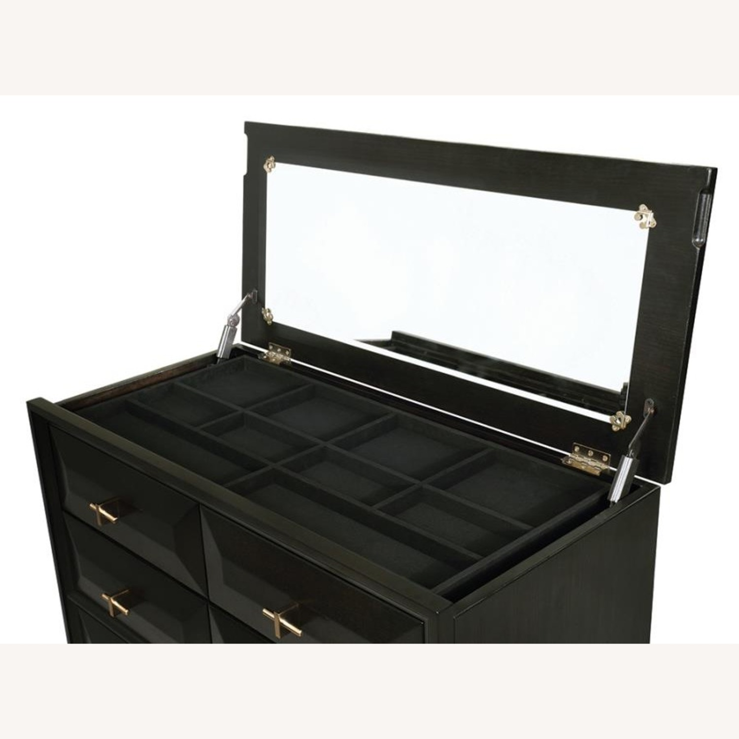 Chest In Americano Finish W/ 8 Drawers - image-1