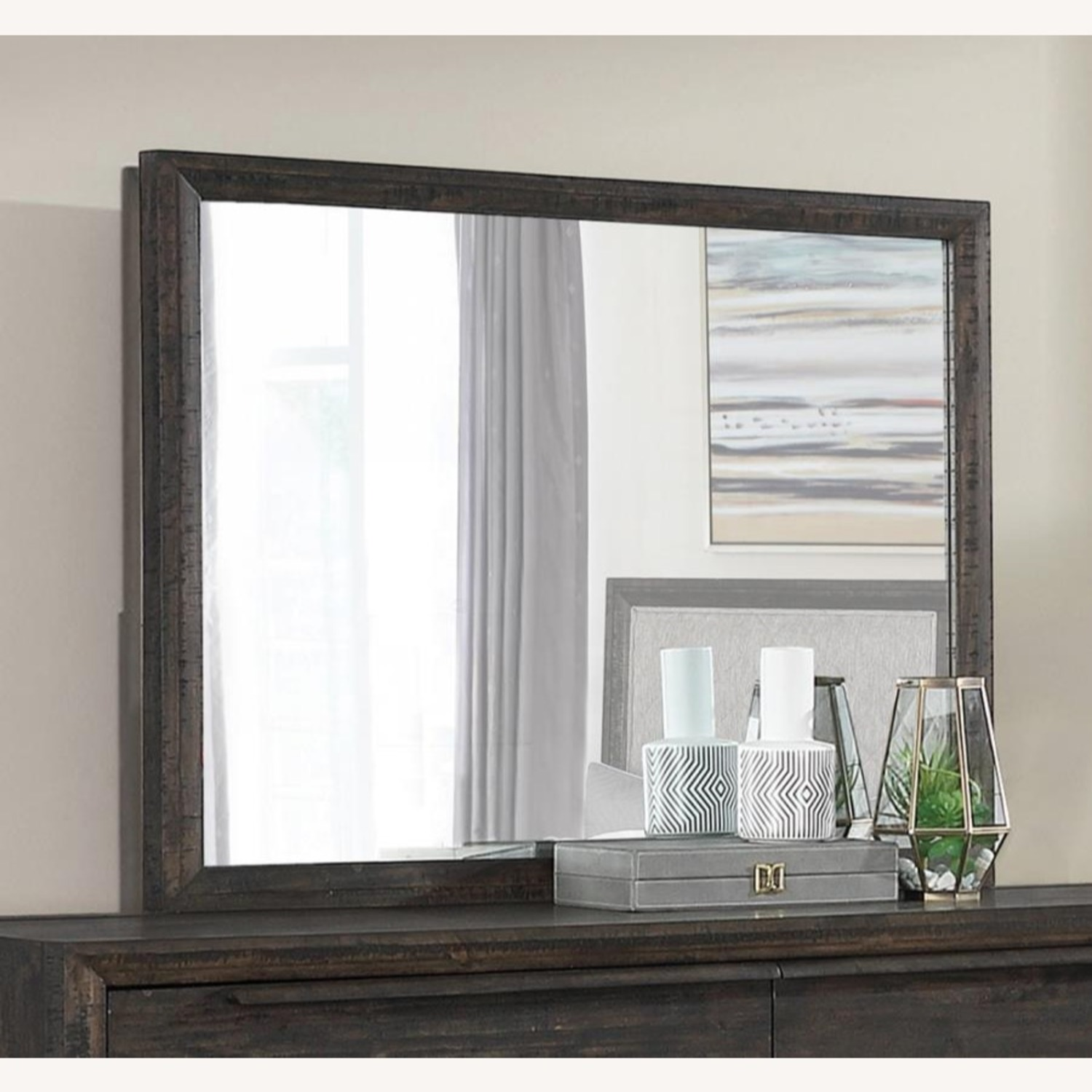 Mirror In French Press Wood Finish - image-2