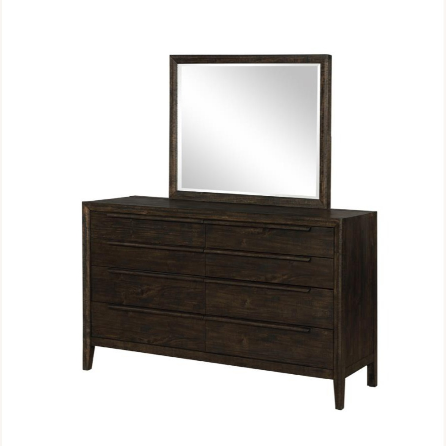 Mirror In French Press Wood Finish - image-0