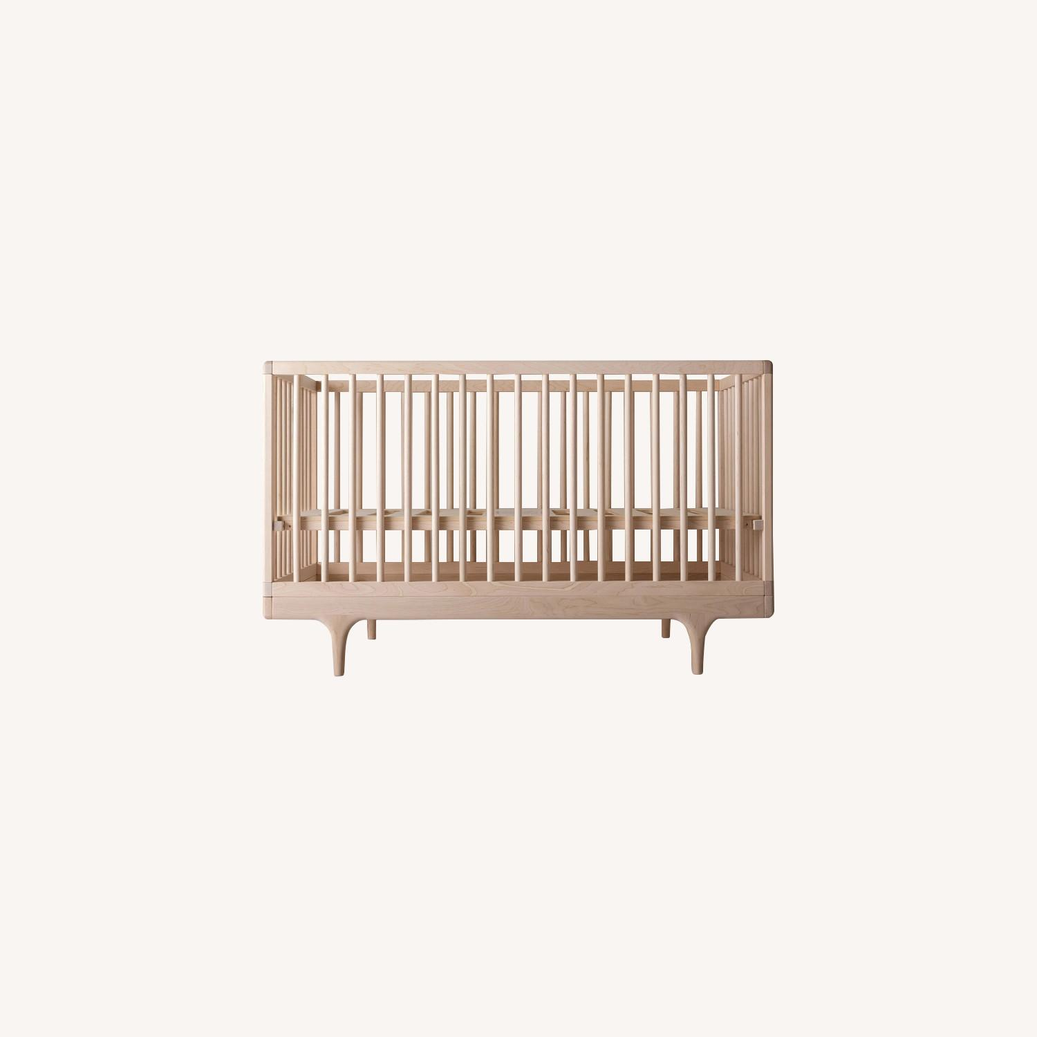 Natural Wood Kalon Caravan Crib - image-0