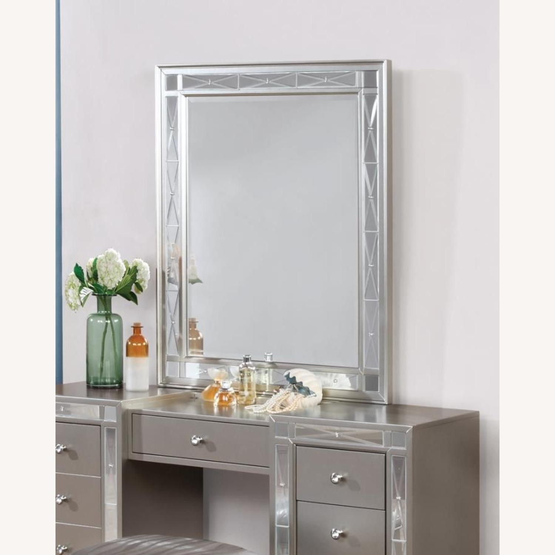 Vanity Mirror In Sparkling Metallic Mercury Finish - image-2