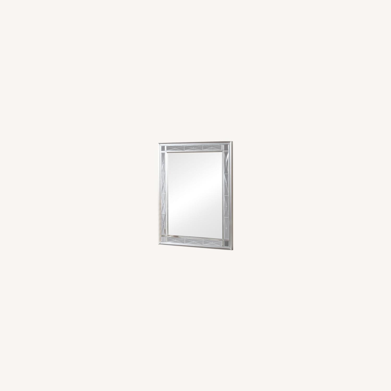 Vanity Mirror In Sparkling Metallic Mercury Finish - image-3