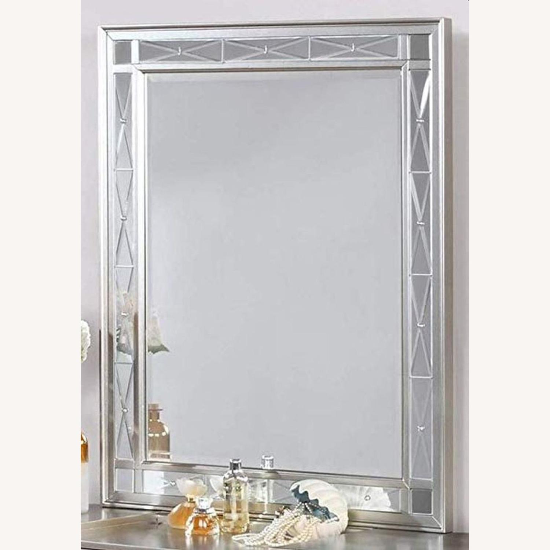 Vanity Mirror In Sparkling Metallic Mercury Finish - image-1