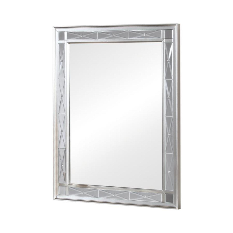 Vanity Mirror In Sparkling Metallic Mercury Finish - image-0