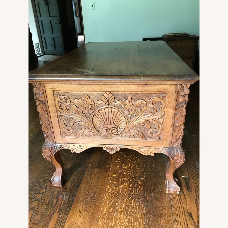 Antique Wood Desk - image-2