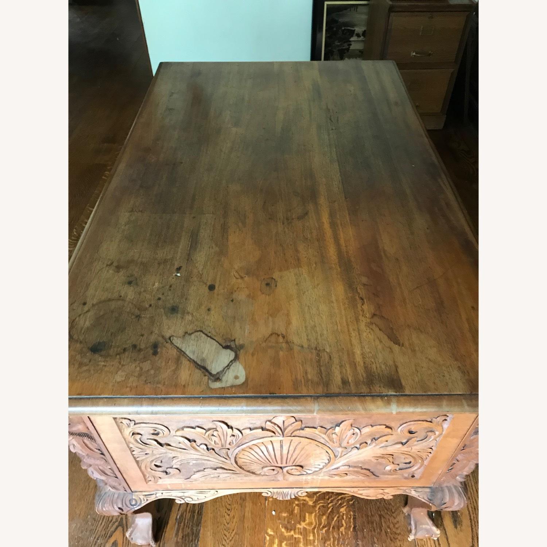 Antique Wood Desk - image-4