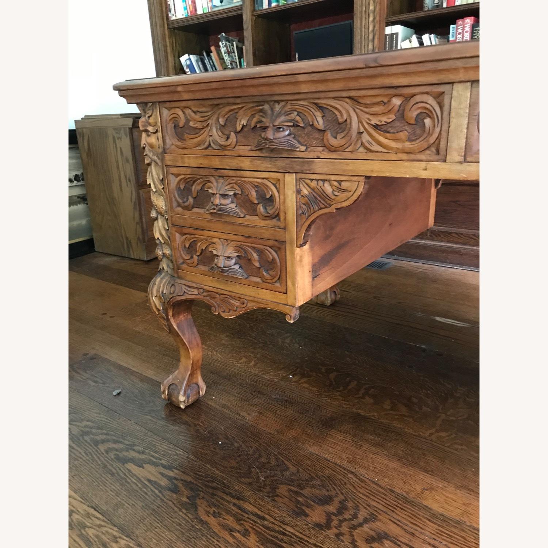 Antique Wood Desk - image-5