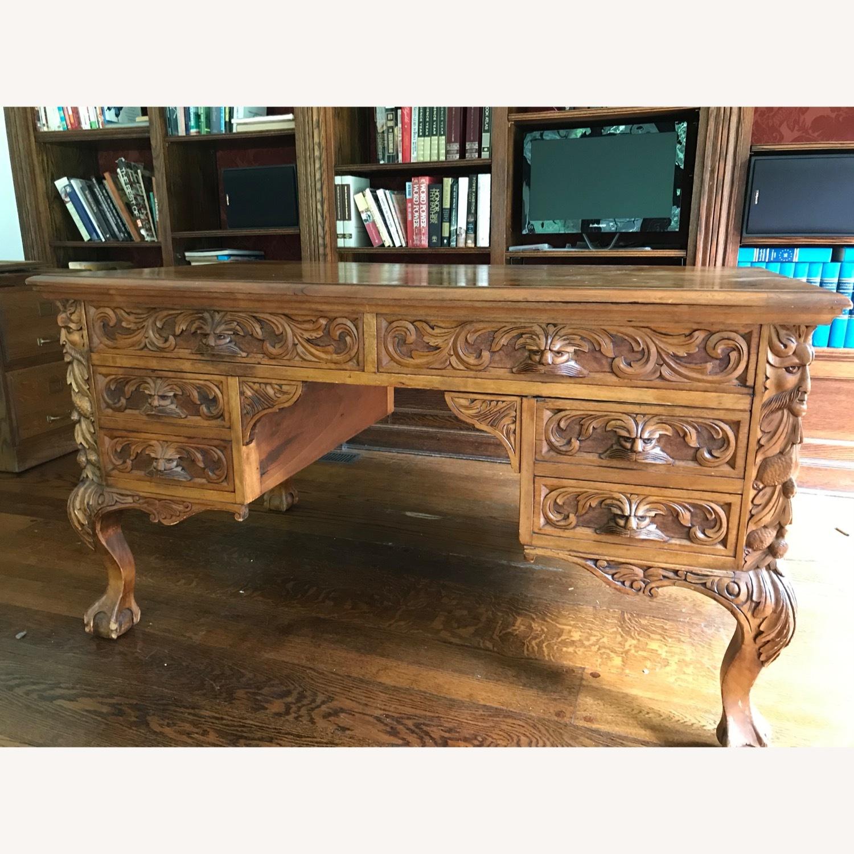 Antique Wood Desk - image-1
