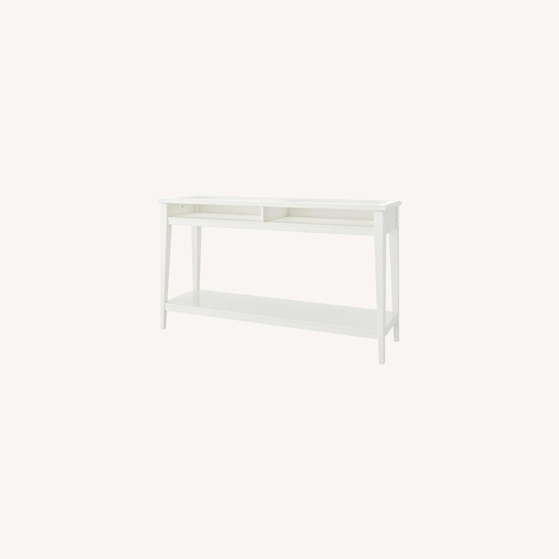 IKEA Assembled Liatrop Glass Console Table - image-0