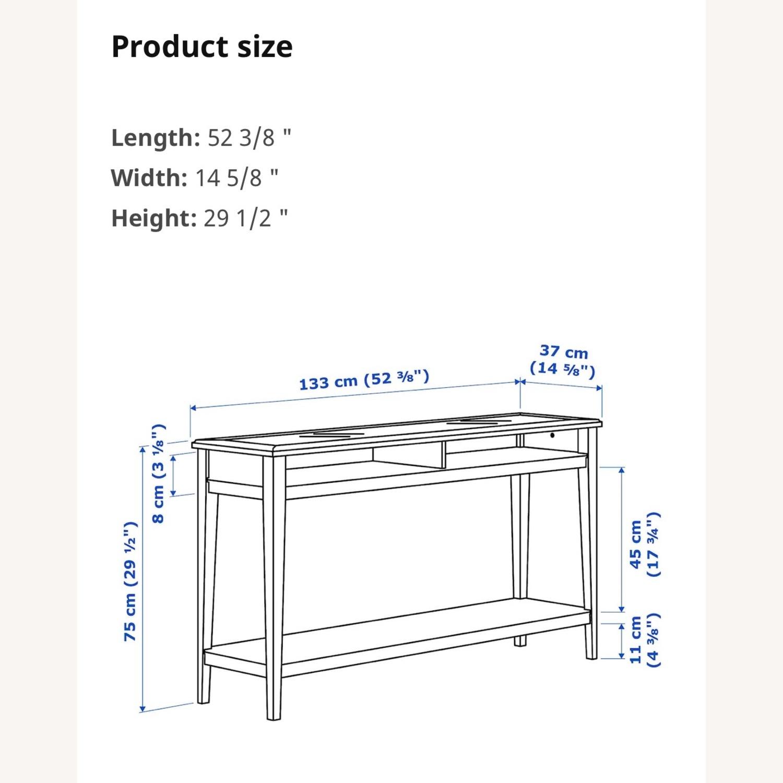 IKEA Assembled Liatrop Glass Console Table - image-5