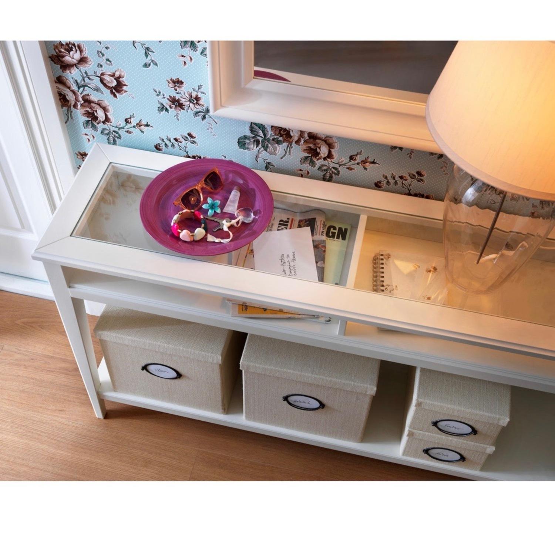 IKEA Assembled Liatrop Glass Console Table - image-4