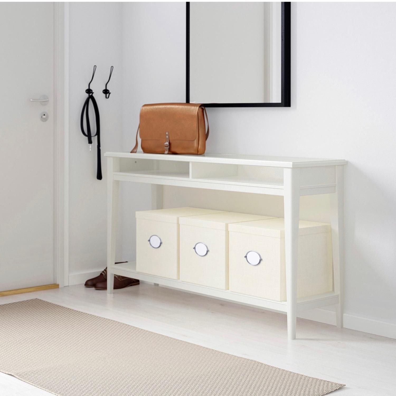 IKEA Assembled Liatrop Glass Console Table - image-2