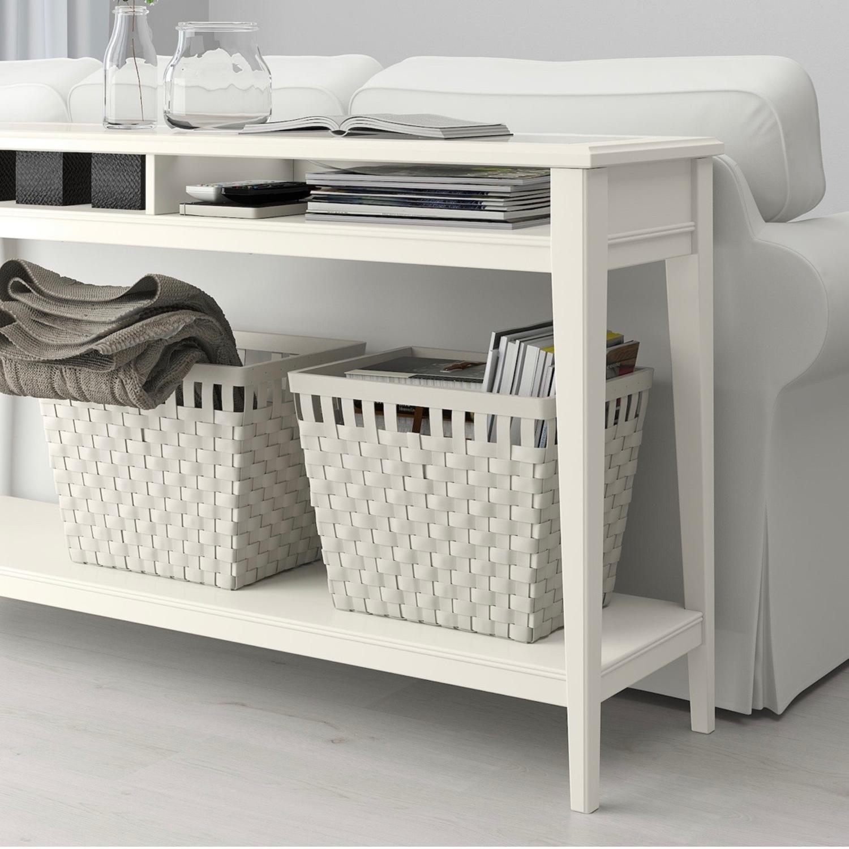 IKEA Assembled Liatrop Glass Console Table - image-3