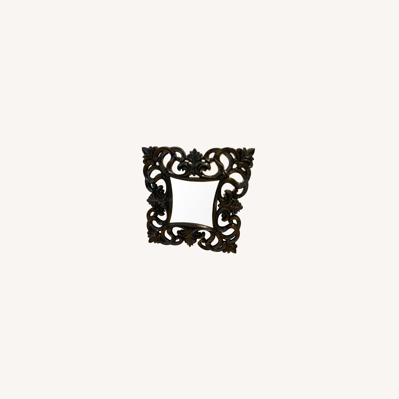 Black Baroque Wall Mirror - image-0