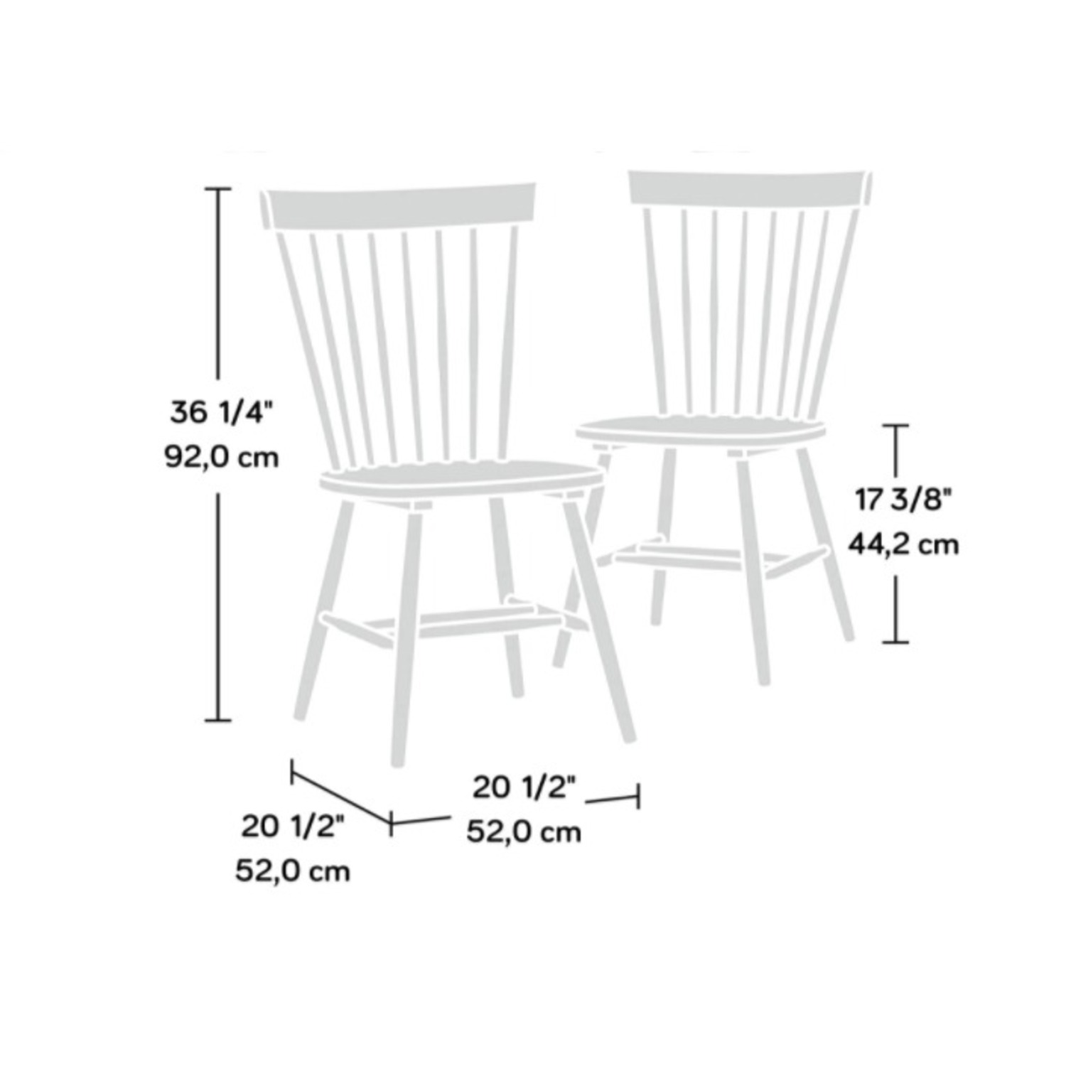 White Dining Table and 2 Black Spindle Chairs - image-5