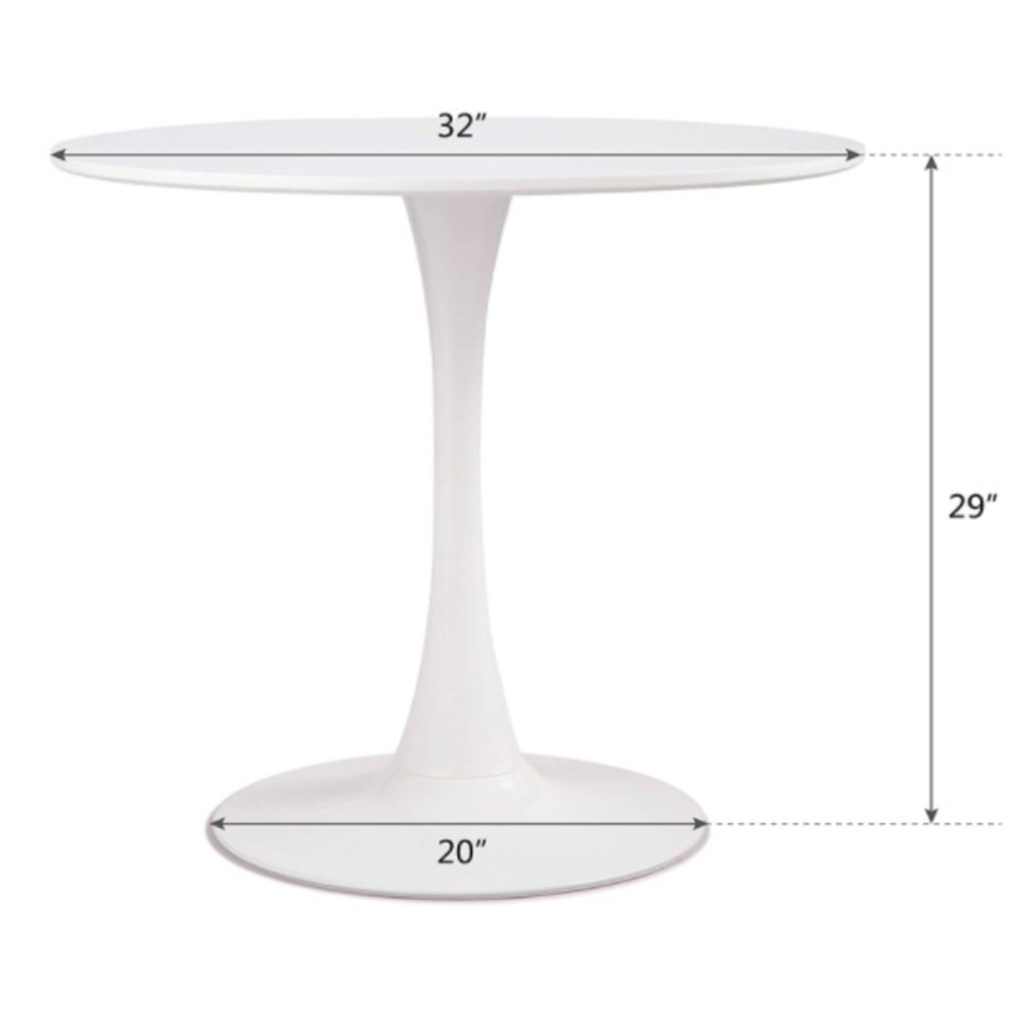 White Dining Table and 2 Black Spindle Chairs - image-4