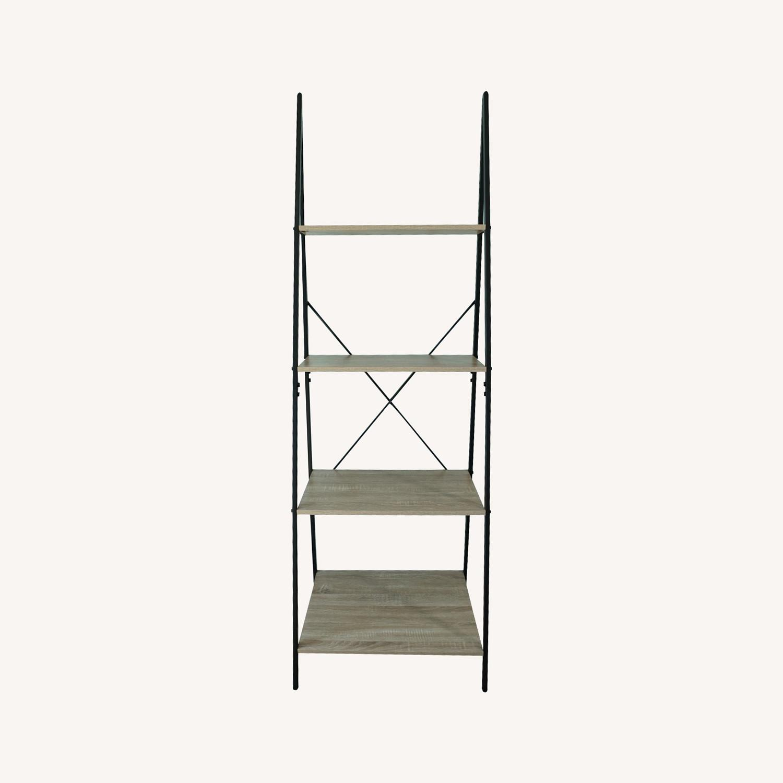 4-Tier Ladder Shelf Bookcase - image-0