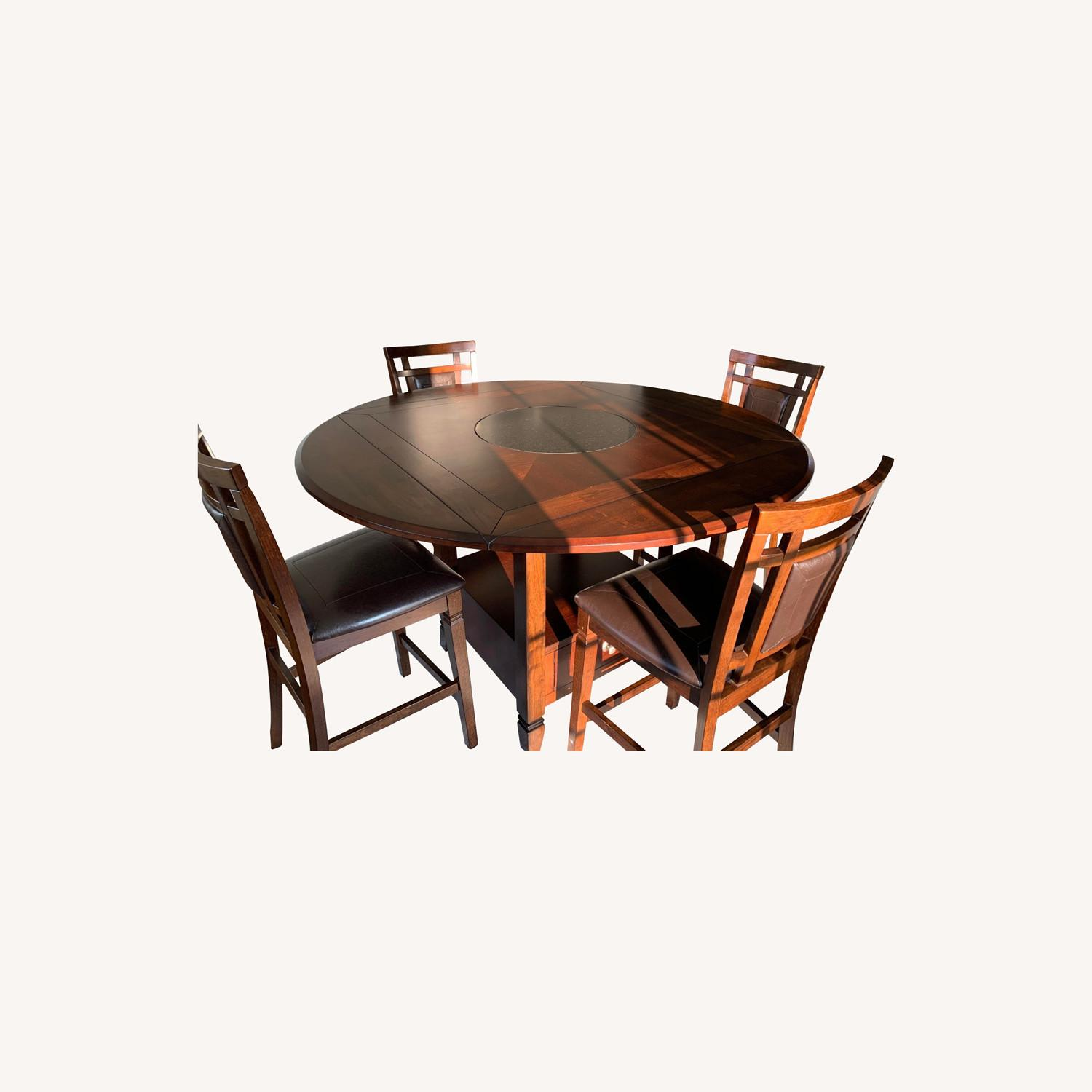 5 Piece Drop Leaf Counter Height Dining Set - image-0
