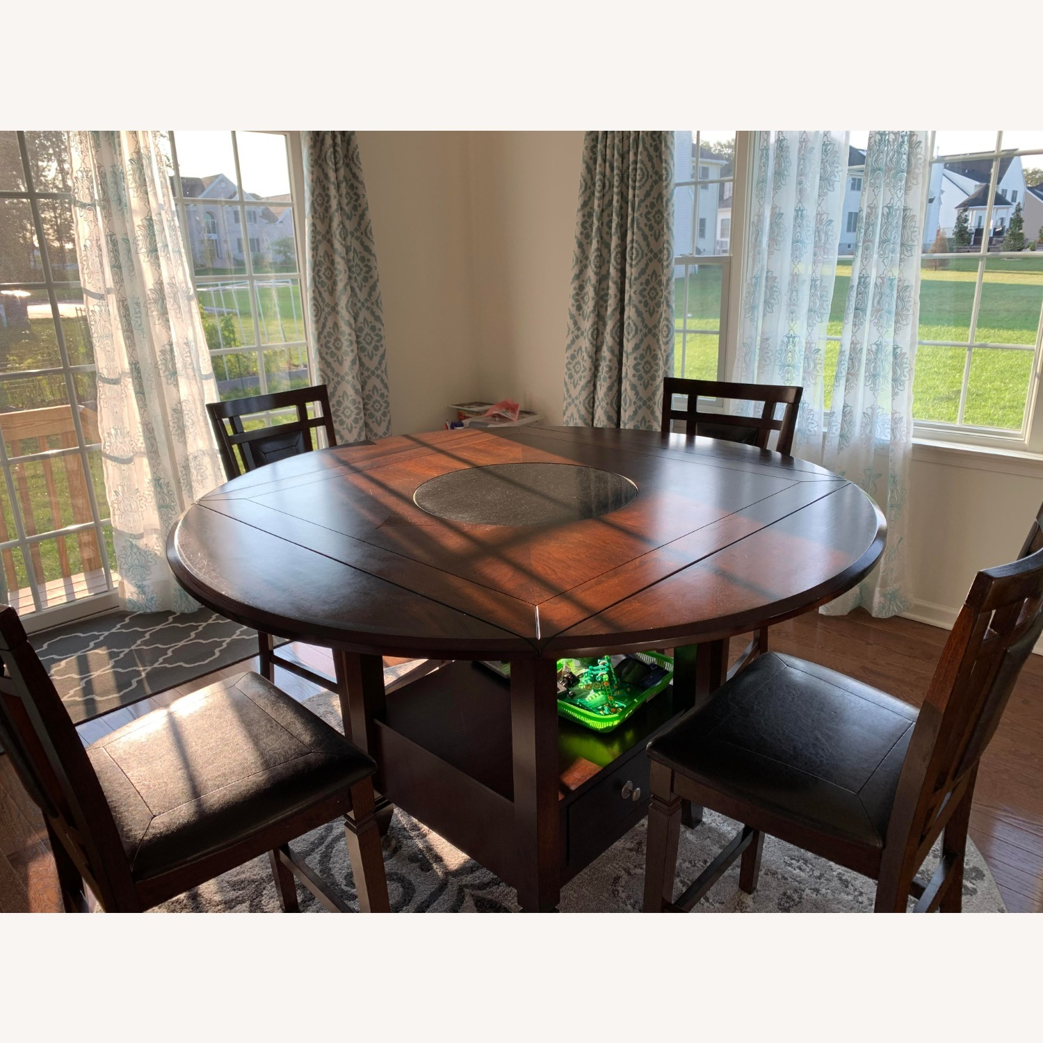 5 Piece Drop Leaf Counter Height Dining Set - image-2